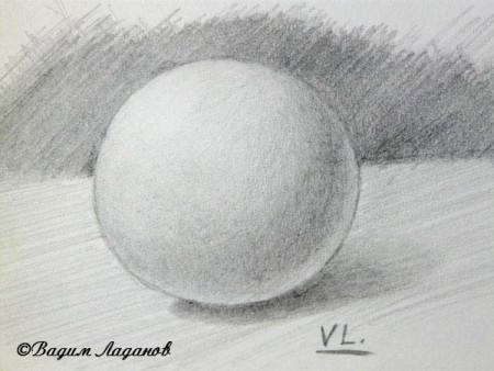 Шар простым карандашом