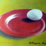 Как нарисовать натюрморт с яйцом пастелью