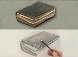 как нарисовать старую книгу