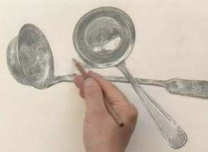 как нарисовать металлическую поверхность