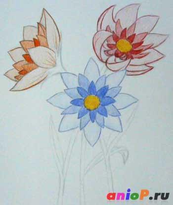 Тональная растяжка в цветах