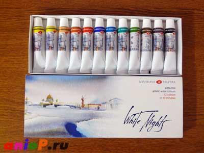 """краски фирмы """"Невская Палитра"""""""
