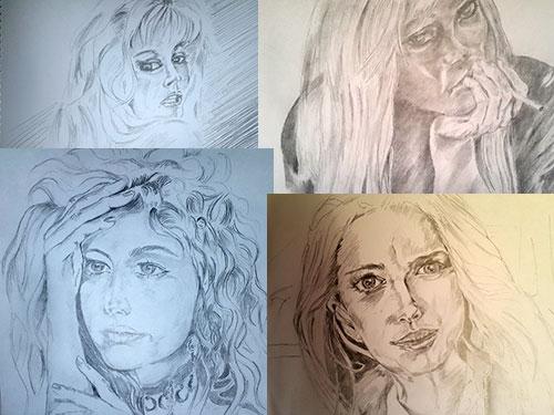 Портреты Виталия Басалаева