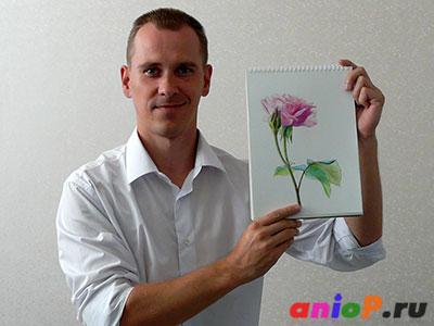 Вадим Ладанов и роза