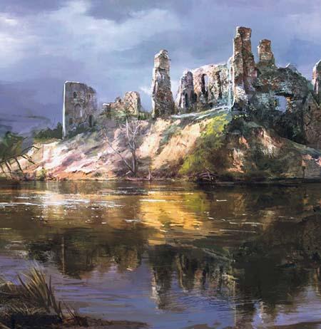 Фрагмент пейзажа к игре Ведьмак 3