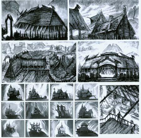 Разработка формы зданий к игре Skyrim
