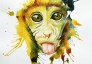 Рисуем обезьяну к Новому Году!