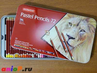 Пастельные карандаши Derwent 72