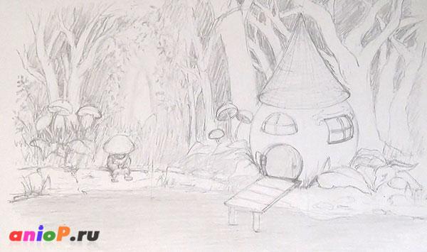 Рисуем иллюстрацию карандашом