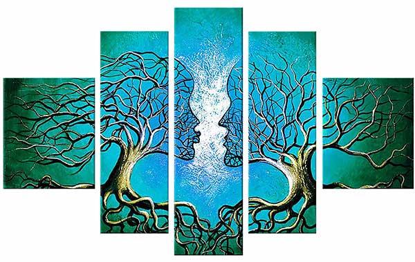 модульная картина деревья