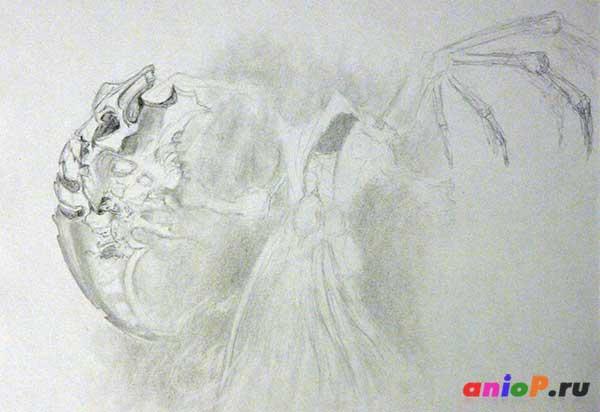 Рисунок Жнеца из darksiders 2