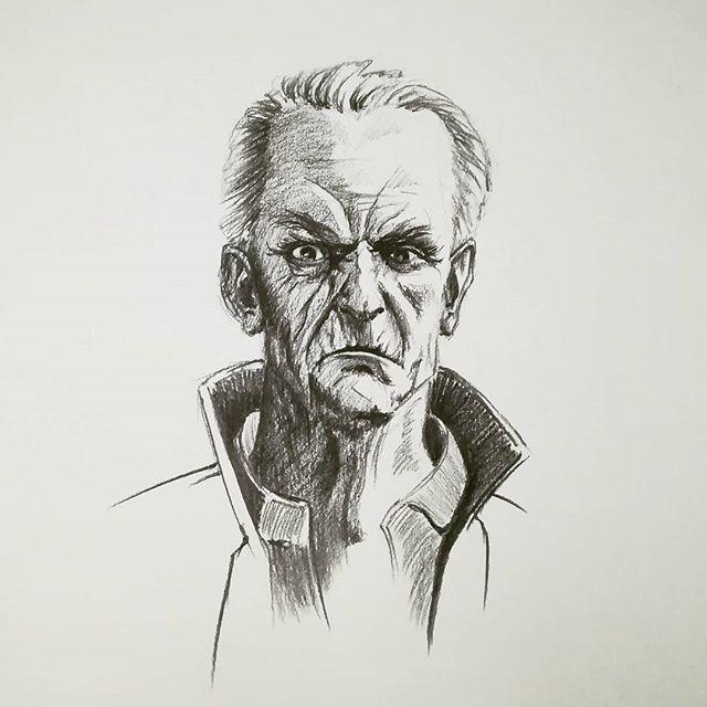 По мотивам #Dishonored. #рисунки #скетч #карандаш #портрет #sketch #drawingКолоритный персонаж️