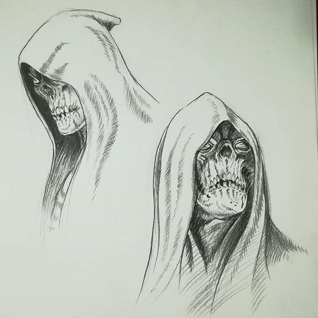 По мотивам #Darksiders. #рисунки #скетч #карандаш #рисование #скелет #drawing #sketch