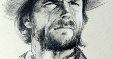 Портрет Клинта Иствуда в простом карандаше